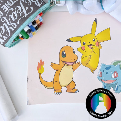 POKEMON design for Iron-on-Ink project