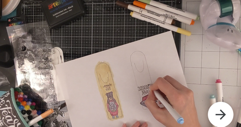 Color your Iron-on-Ink design using Sublimation Markers