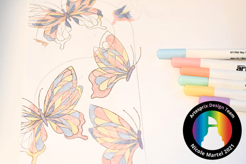 Sublimation Door Hanger with Sublimation Markers Butterfly DIY