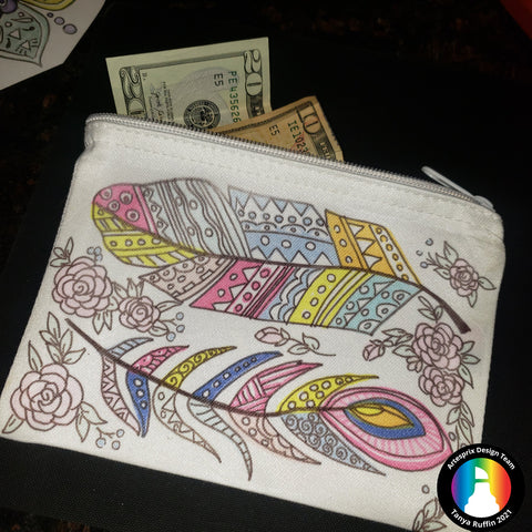 Sublimation Artesprix Zip Case with heat transfer markers