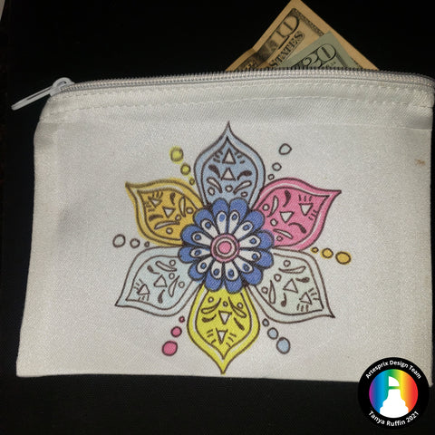 Sublimation Zip case with heat transfer markers