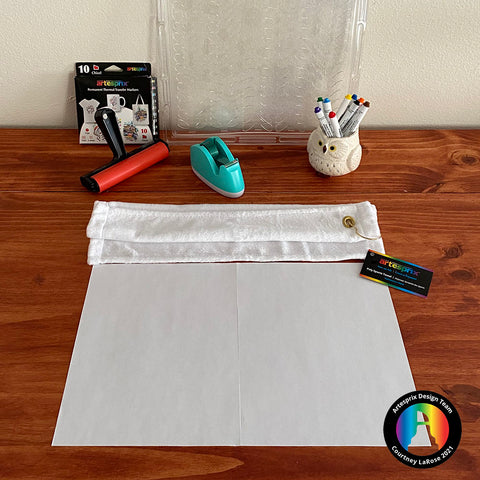 Tape two sheets of regular copy paper