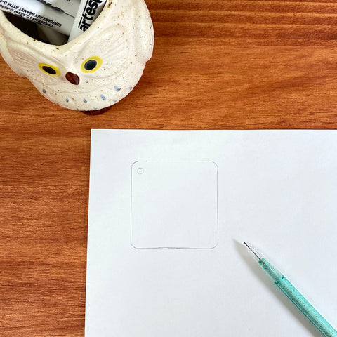 Trace your blank on to your copy paper
