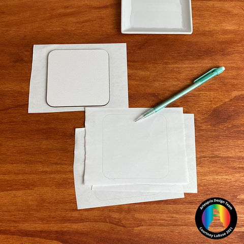 Trace your blank on plain copy paper