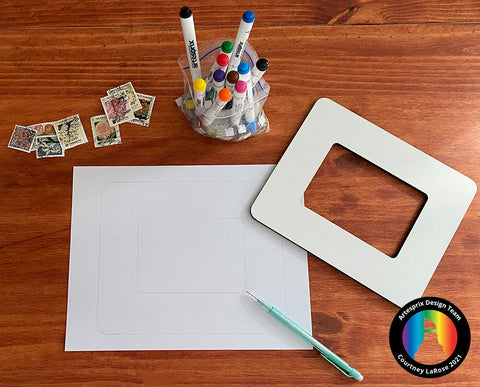 Trace your Picture Frame onto plain copy paper