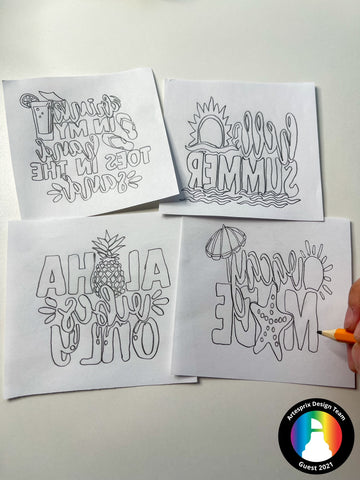 Sublimation Design DIY Iron-on-Ink Markers