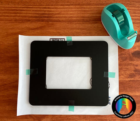 Tape down Artesprix Picture Frame to copy paper