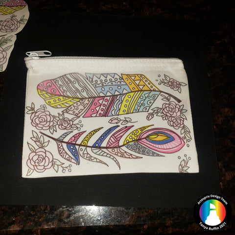 Sublimation Zip Canvas Pouch with Iron-on-Ink