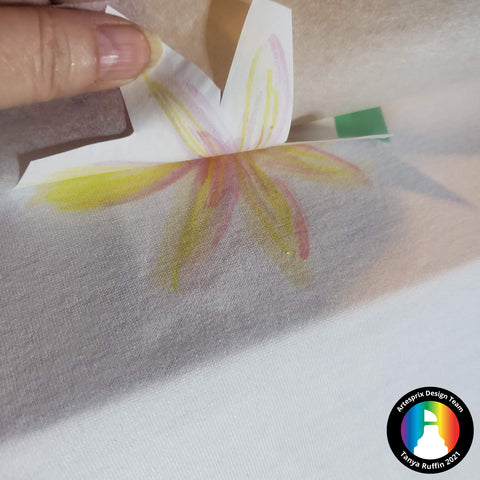 Sublimation watercolor polyester shirt project