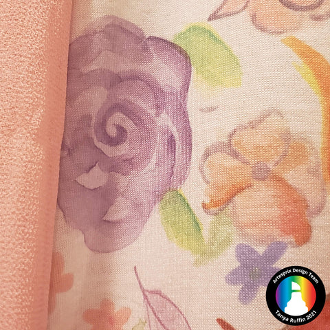 Sublimation watercolor polyester t-shirt design