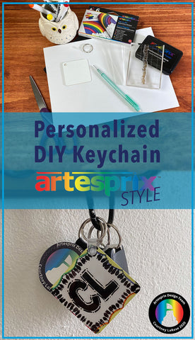 Artesprix Key Chain Project with Iron-on-Ink