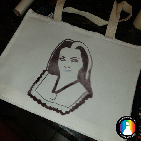 Sublimation polyester tote with Artesprix sublimation markers