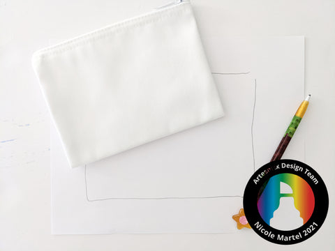 Sublimation Polyester Zip Case with Artesprix Sublimation Markers