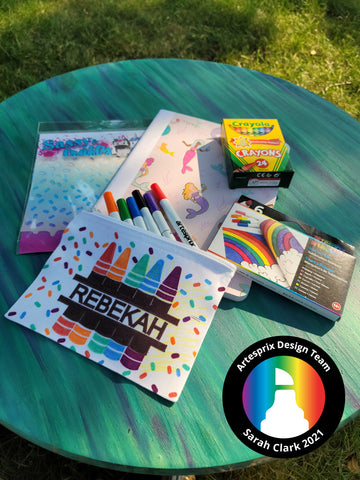 Back To School DIY Zip Pouch with Sublimation Iron-on-Ink