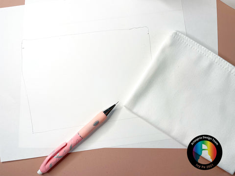 Trace your design onto copy paper