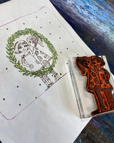 Color the design using Iron-on-Ink Markers
