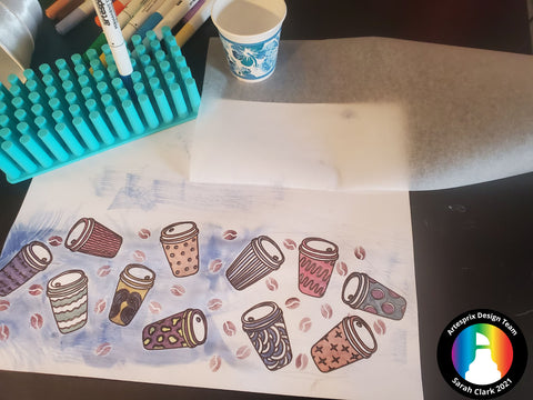 Color design using Iron-on-Ink Markers