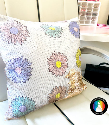 Polyester Sequin Pillow