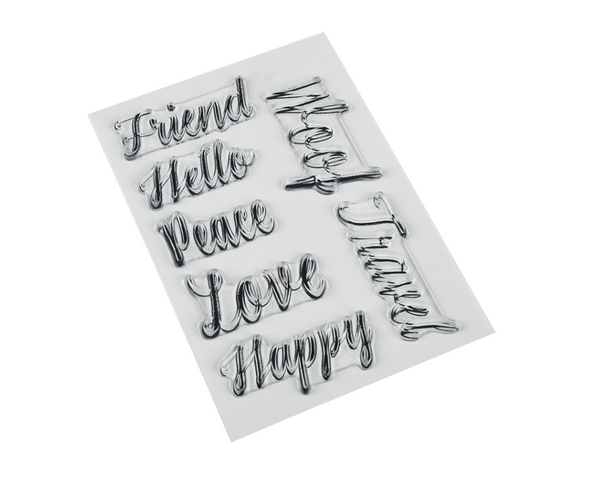 "Photopolymer Stamps - Hand Lettered Basics Mirrored Words for Sublimation (4"" x 6"") - Artesprix"
