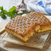Square Garlic and Herb focaccia