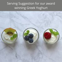 Greek yoghurt serving suggestion