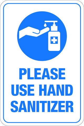 Please Use Hand Sanitizer