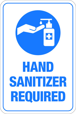 Hand Sanitizer Required
