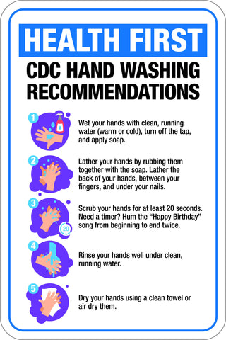 Health First -  CDC Hand Washing Recommendations