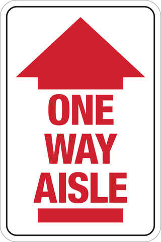 Decal - One Way Aisle