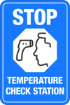 Stop - Temperature Check Station W/ Touch Thermometer