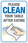 Decal - Please Clean Your Table After Eating W/ Hand