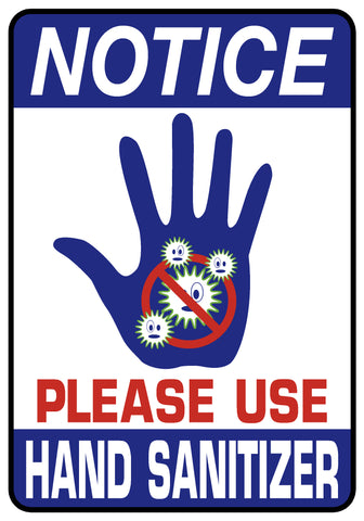 Decal - Notice - Please Use Hand Sanitizer