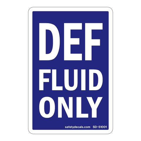 DEF FLUID ONLY DECAL