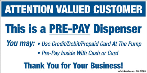 Attention Valued Customer - PRE-PAY