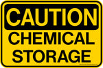 Decal - CAUTION Chemical Storage