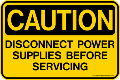 Decal - CAUTION Disconnect Power