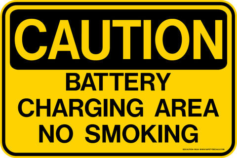 Decal - CAUTION Battery Charging Area No Smoking