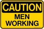 Decal - CAUTION Men Working