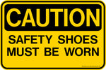 Decal - CAUTION Safety Shoes Must Be Worn