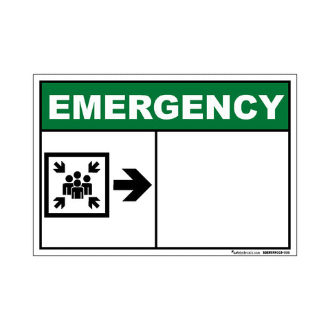 Decal - Emergency Assembly Station Right Blank