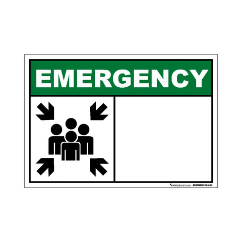 Decal - Emergency Assembly Point Blank