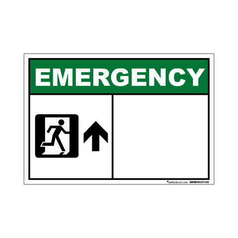 Decal - Emergency Exit Up Blank
