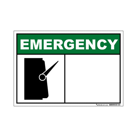 Decal - Emergency Switch Blank