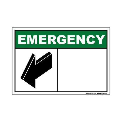 Decal - Emergency Arrow Blank