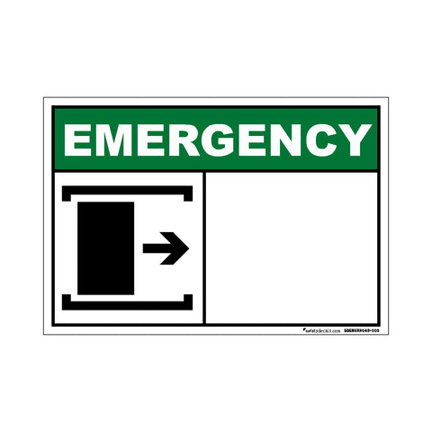 Decal - Emergency Slide Right To Open