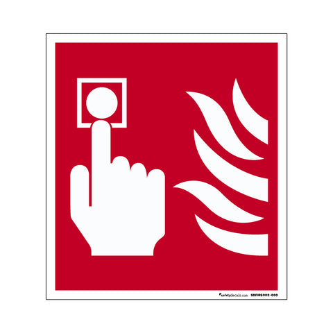 Fire Safety Decal Push Button