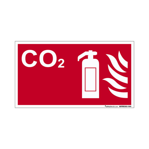 Fire Safety Decal CO2