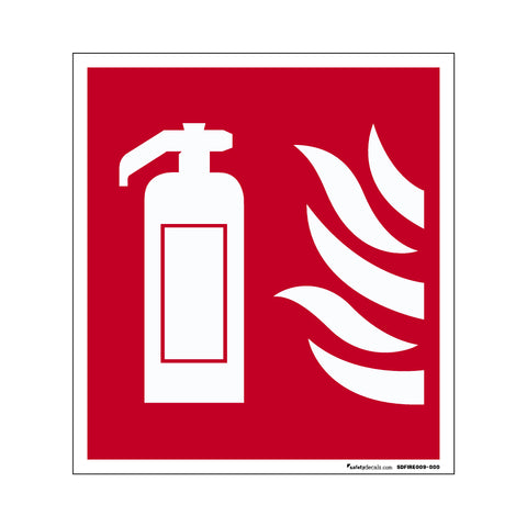 Fire Safety Decal Fire Extinguisher