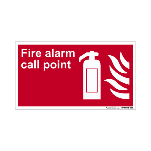 Fire Safety Decal Fire Alarm Call Point