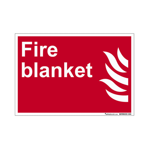 Fire Safety Decal Fire Blanket